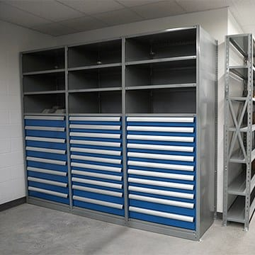 shelving unit with modular drawers New Jersey New York