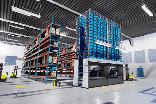 automated storage option effimat with robots